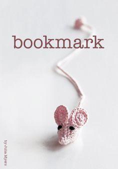 bookmark, crochet, mouse