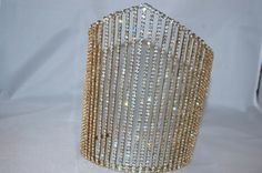 Vintage pageant crown tiara pronged rhinestones soldered large - wedding - santos - altered art supply on Etsy, $39.00