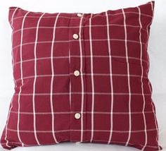 Pillow Case Made from Men's Shirt | 23 Borderline Genius Ways To Upcycle Your Junk