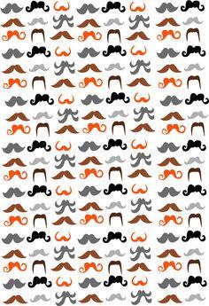 Moustache Pattern. @Natalie Jost Bostwick @Carly Walker @Meredith Dlatt Moore @Christina & Fulks @Katya Efimenko