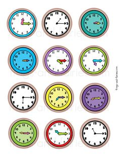 Snail Time Match - Frogs and Fairies Telling Time Activities, English Activities For Kids, Kindergarten Math Activities, Teaching Time, Math For Kids, Preschool Activities, Learn To Tell Time, 1st Grade Worksheets, Little Learners