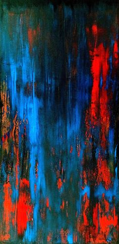Zé Luiz Morais. Abstrata, acrylic on canvas, 100x50 cm, catálogo: AbstAcrCan10IanuariusXVII. Técnica estratigráfica: camadas de tinta sobrepostas, aplicadas em bandas horizontais e verticais, esfregadas, borradas e raspadas; acabamento da superfície: textura lisa. Instrumentos: espátula, desempenadeira emborrachada, rodo-de-mão.