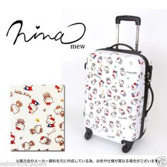 Hello Kitty x Nina Mew Luggage Carry Roller Bag Travel Wheeled Carry on Japan | eBay
