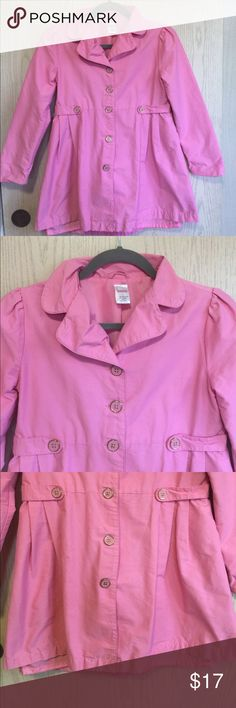 Little Girls Coat Beautiful Trench Coat for a little girl. Used 2 times, in great condition. Armpit to armpit measurements approximately 15 inches, waistline about 15 inches from one side to the other laying flat. Length about 26 inches. Gymboree Other
