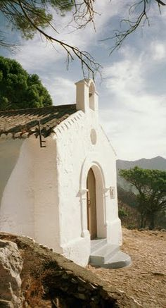 Mijas, Andalusia, Spain the little white church up the mountain...