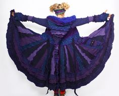 Love this purple coat by Katwise.