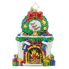 Christopher Radko Beautiful Blaze Our First Home Christmas Ornament