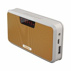 Rolton E300 Multifunctional Portable Wireless Bluetooth Stereo Speaker with Power Bank FM Radio Yellow *** Be sure to check out this awesome product.
