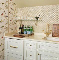 Hexagon Fliesen Idee Muster Mosaik Steinchen Beige Weiß | Küche | Pinterest