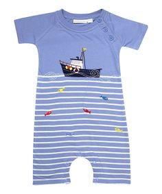 9438e505c Adorable Stripe Fishing Romper for Baby. Baby Fish