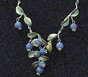 Blueberry Cluster Necklace