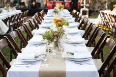 Reception set-up on Northwest Lawn for 140. Wedding Planner: The Simplifiers   scottstater.com