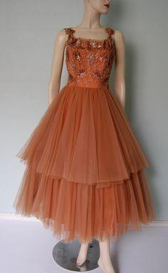 1950s Beaded Tulle Fairy Princess Ball Gown - Ballerina Style - Benham Original. $268.00, via Etsy.