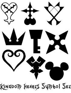 Kingdom Hearts Symbol Brushes by shuzzy.deviantart.com