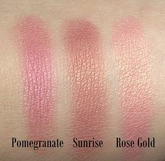Sleek Pomegranate, Sunrise and Rose Gold
