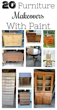 20 Furniture Makeovers With Paint Furniture Makeover DIY Furniture Makeovers Paint Refurbished Furniture, Paint Furniture, Repurposed Furniture, Unique Furniture, Shabby Chic Furniture, Furniture Projects, Kids Furniture, Furniture Making, Vintage Furniture
