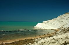 Top beaches Italy. The Scala de Turchi a.k.a The Turkish Steps in Sicily.