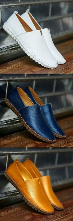 US $25.98 Prelesty Big Size 38-50 Spring Autumn Men Luxury Brand Driving Shoes Breathable Genuine Leather Flats Loafers Casual Slip On