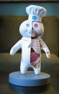 "Anatomy of The Pillsbury Doughboy. ""My diagnosis: systemic yeast infection"" :: Lc- Your comment makes it sooo much funnier! Medical Student, Medical School, Vinyl Toys, Designer Toys, Science And Nature, Nerdy, Creepy, Birthday Gifts, Babys"