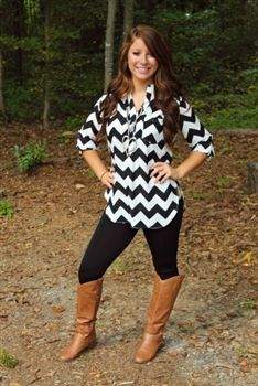 Lonely Eyes Chevron Top - Black $37.99 #SouthernFriedChics