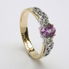 Damona Celtic Engagement Ring (C-742)...would be prettier in all white metal