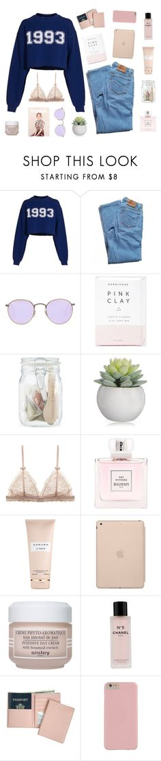"""[ 8.57pm]       in your heart, we are nothing but strangers in the end"" by stormy-delusions ❤ liked on Polyvore featuring MSGM, Levi's, Ray-Ban, Boska, Balmain, Carven, Black Apple, Sisley, Chanel and Royce Leather"
