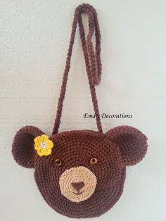 Crochet Bear Bag - a pattern