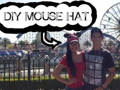 DIY MINNIE AND MICKEY MOUSE HAT | BASEBALL CAP