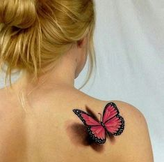 Tatouage papillon : Top 100 des tattoos papillon pour femme - 100 adorables tatouages papillon www. Butterfly Tattoo Meaning, Butterfly Tattoo Designs, Tattoo Designs For Women, Realistic Butterfly Tattoo, Purple Butterfly Tattoo, Butterfly Tattoos For Women, 4 Tattoo, Bad Tattoos, Body Art Tattoos