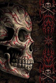 SPIRAL - skull tattoo pósters   láminas   fotos