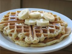 Best Yogurt Waffles Ever:  1 c. water  1 c. yogurt (I've used whole and low fat, with equally good results)  2 eggs  2 c. flour  2 tsp baking powder  1 tsp baking soda  1/2 tsp salt    In a medium/large bowl, combine the water, yogurt, and eggs. In a smaller bowl, mix together the remaining (dry) ingredients. Add dry ingredients to wet, and stir to combine. Bake in a waffle iron (according to the directions that came with the appliance).