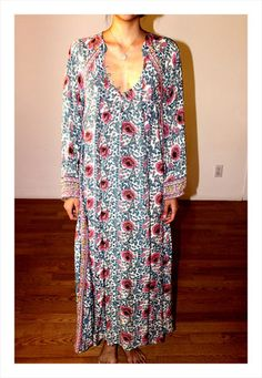 FIORE MAXI DRESS in l o v e SOLD n a t a l i e m a r t i n Natalie Martin, Vintage Hippie, Cover Up, Boho, Summer, Closet, Collection, Shopping, Dresses