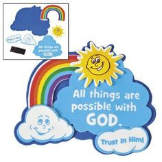 """(Makes 12) """"All Things Are Possible With God"""" Magnet Craft Kit >>> Read more  at the image link."""