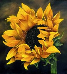 Paintings Of Sunflowers - Painting On Canvas Acrylic Painting Flower Landscape Sunflower A Sunflower Sunflower Art Sunflower Canvas Watercolor Sunflower Sunflower Joy Painting . Acrylic Painting Flowers, Acrylic Painting Canvas, Canvas Art, Acrylic Art, Paint Flowers, Large Canvas, Diy Canvas, Sunflower Pictures, Sunflower Art