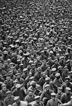 German prisoners of war on the Western Front. France, WWI. Douglas Haig