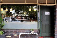 The Stranded Store Window Decal Shabby Chic Shops, Window Graphics, Front Windows, Shop Fronts, Store Windows, Living At Home, Window Decals, Sticker Shop, Commercial Design