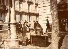 EN LA RIMBOMBANTE Y MÁS CELEBRE ARTERIA DE MADRID COMO ES LA CALLE ALCALÁ SE UBICABA EL CAFÉ DE CERVANTES, TIRADA EN 1900