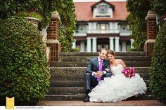 Chris   Lindsey: Longview Mansion Wedding. Classic Cakes | www.kcclassiccakes.com Floral | Erin Volante