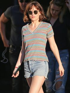 Star Tracks: Tuesday, June 30, 2015 | RAINBOW BRIGHT | Dakota Johnson rocks some serious stripes as she films scenes for her upcoming film, How to Be Single, on Monday in New York City.