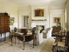A beautiful example of how to furnish and expertly edit with antiques.