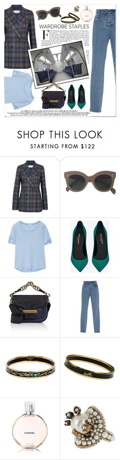 """""""Classic and Chic"""" by tamara-40 ❤ liked on Polyvore featuring Gabriela Hearst, CÉLINE, Splendid, Yves Saint Laurent, Pierre Hardy, Dundas, Hermès, Chanel and Gucci"""