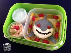 Cute #SJSharks themed lunch for kids.