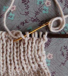 Cierre de puntos con aguja de coser
