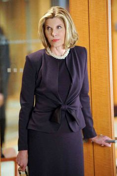 Christine Baranski – The Good Wife fashion Diva. Well groomed and modest in  attire no cleavage hanging out. She looks beautiful and professional with  attire ... ca592217f5f5