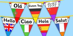 Mixed Languages Hello Bunting