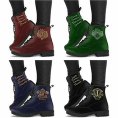 Harry Potter 4 Houses Boots - Hogwarts 4 Houses Boots from - Flash sale now discount - Cheap women boots Colar Do Harry Potter, Bijoux Harry Potter, Objet Harry Potter, Mode Harry Potter, Harry Potter Shoes, Harry Potter Accessories, Harry Potter Bedroom, Images Harry Potter, Harry Potter Merchandise