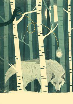 Lone Wolf - Owen Davey Illustration