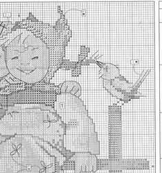 """Coquettes"" Hummel cross stitch pattern. Saved from markisa81.gallery.ru"