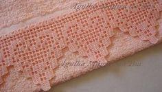 pesquisa croche com grafico bicos simples com canto pano de prato_Pesquisa do Baidu Filet Crochet Charts, Crochet Motifs, Crochet Borders, Crochet Stitches Patterns, Lace Patterns, Crochet Squares, Thread Crochet, Crochet Trim, Love Crochet