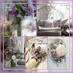 I miei collage by Paoline Collages, Table Decorations, Color, Furniture, Home Decor, Lavender, Montages, Colour, Homemade Home Decor